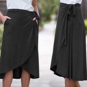 Women's Mid-Length Wrap Skirt.